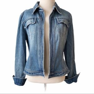 Moda International Denim Open Front Jean Jacket